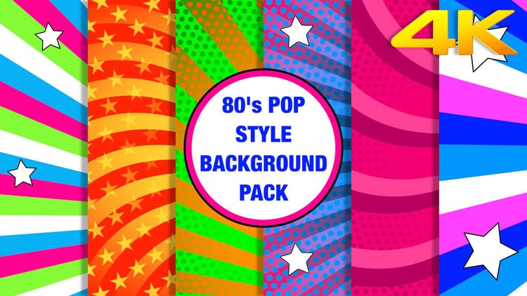 80's Pop Background Pack: Stock Motion Graphics