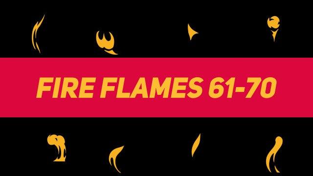 Liquid Elements Fire Flames 61-70: Motion Graphics Templates
