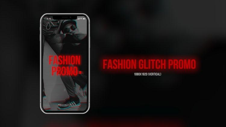 Fashion Glitch Promo (Vertical): Premiere Pro Templates