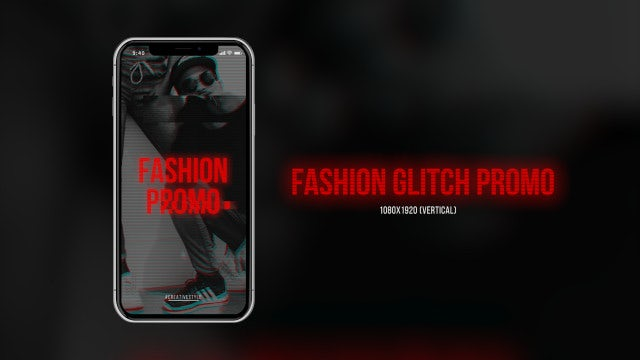 Fashion Glitch Promo (Vertical): Premiere Pro Templates