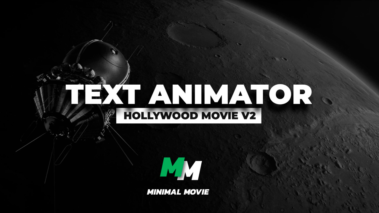 Text Animator - Hollywood Movie V2 - Premiere Pro Presets