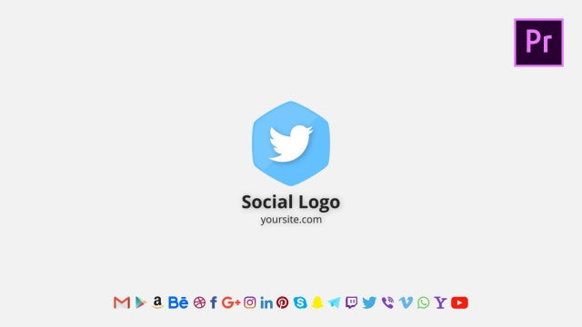 Social Logo Reveal: Motion Graphics Templates