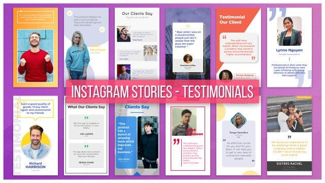Instagram Stories - Testimonials: After Effects Templates
