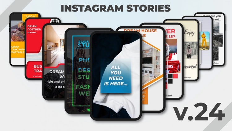 Instagram Stories V.24: After Effects Templates