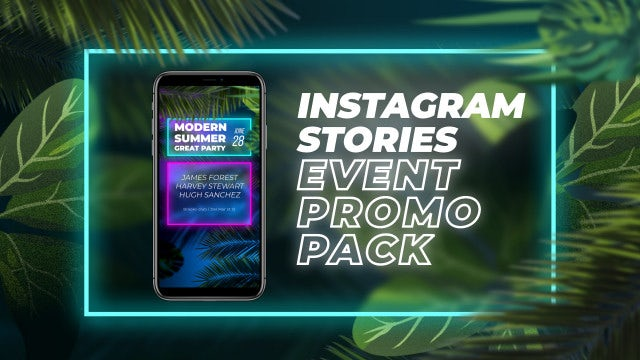Instagram Stories Event Promo Pack: After Effects Templates