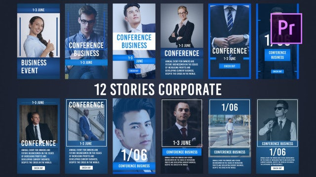 12 Stories Corporate: Premiere Pro Templates