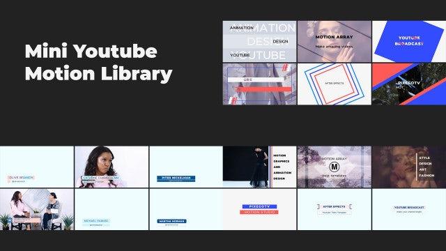Mini YouTube Motion Library V.2: Premiere Pro Templates