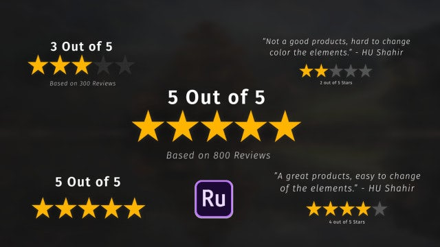 Rating Stars Pack: Premiere Rush Templates