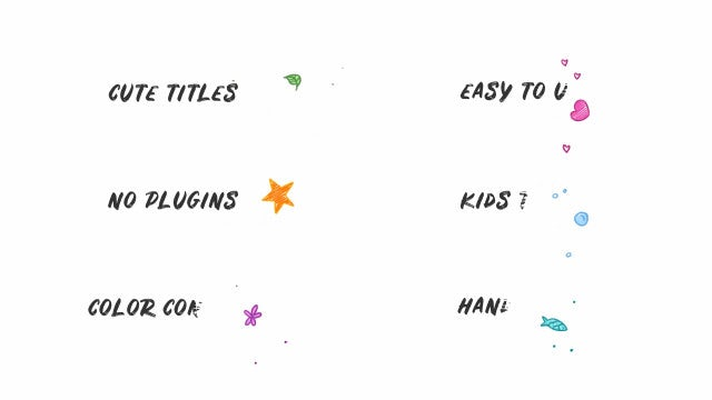 Kids Hand Drawn Titles: DaVinci Resolve Templates