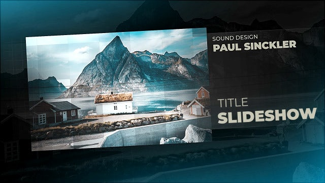 Slideshow Title: After Effects Templates