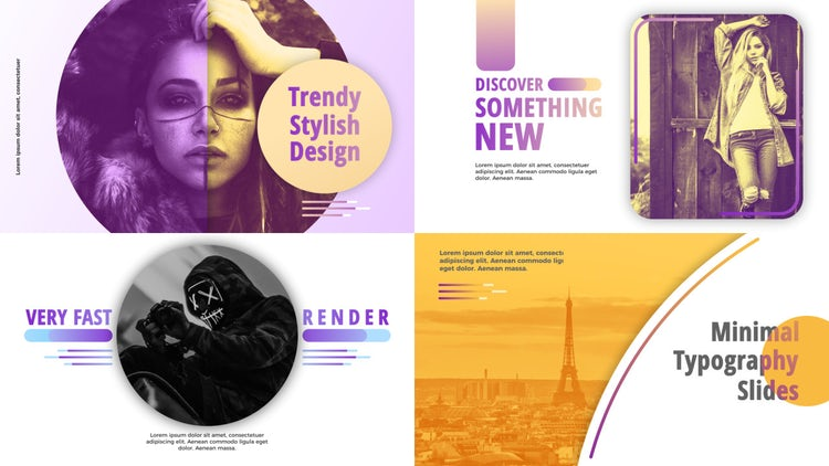 Minimal Typography: Premiere Pro Templates