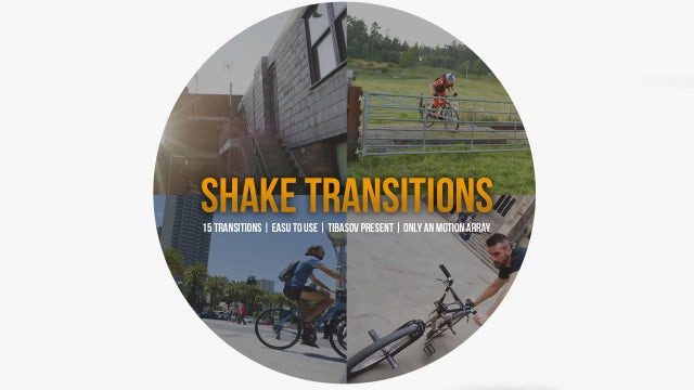 Shake Transitions: Premiere Pro Presets