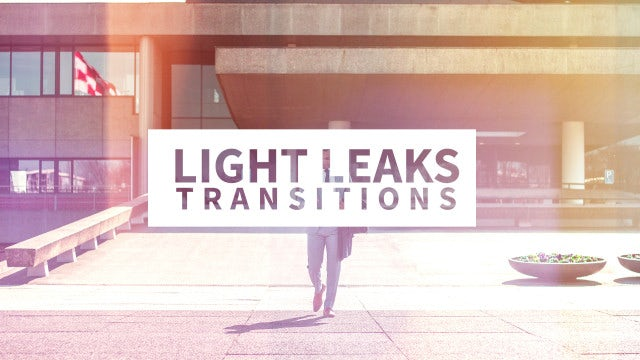 Light Leaks Transitions: Premiere Rush Templates