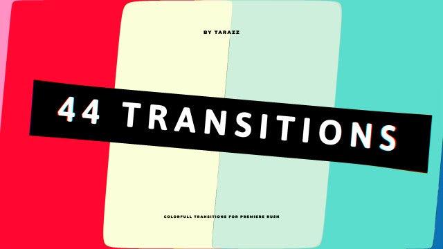 44 Line Transitions: Premiere Rush Templates