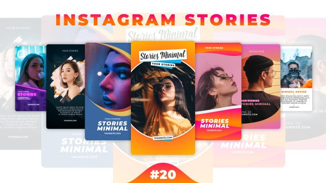 Instagram Stories Pack 20: After Effects Templates