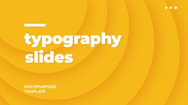 Typo Slides: Motion Graphics Templates