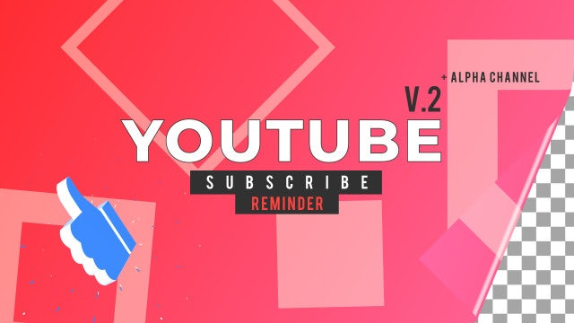 Youtube Subscribe Reminder V.2: After Effects Templates