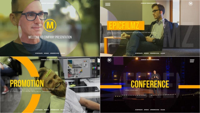 Corporate Slides Presentation: After Effects Templates