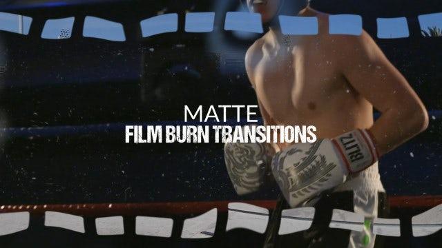 Matte Film Burn Transitions: Stock Motion Graphics