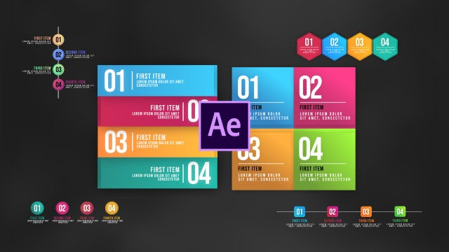 Infographic Animated Lists V3: After Effects Templates