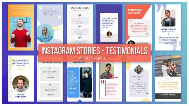 Instagram Stories - Testimonials: Motion Graphics Templates