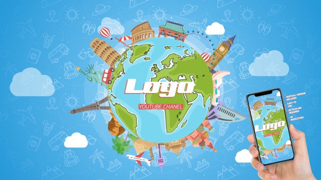 Travel Logo Reveal: After Effects Templates
