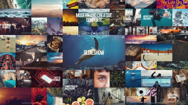 Creative Multiframe Upbeat Slideshow: Premiere Pro Templates