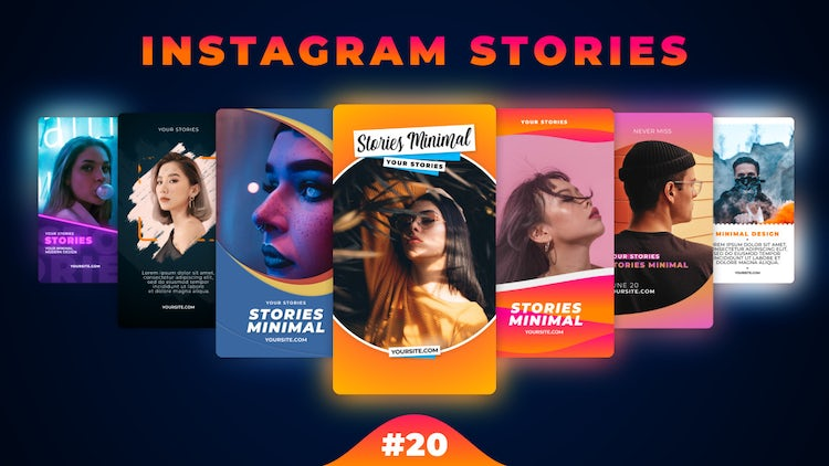 Instagram Stories Pack 20: Motion Graphics Templates