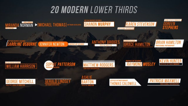 Lower Thirds VI: Motion Graphics Templates