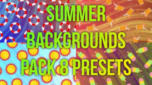 Summer Background Pack: Stock Motion Graphics