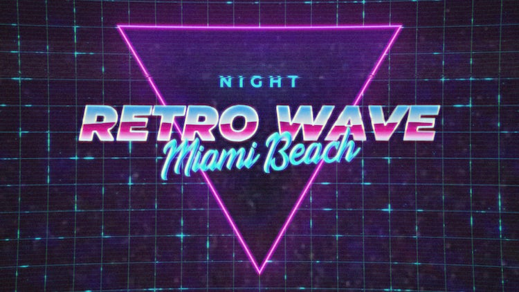Retro Wave Intro #1: After Effects Templates