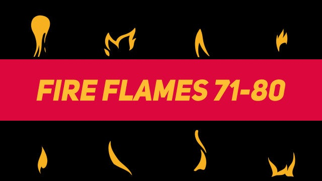 Liquid Elements Fire Flames 71-80: Motion Graphics Templates