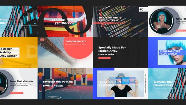 Typo Slides: After Effects Templates