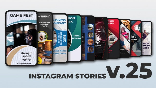 Instagram Stories V.25: After Effects Templates