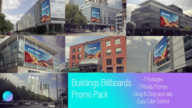 Buildings Billboards Mockup Promo Pack: After Effects Templates