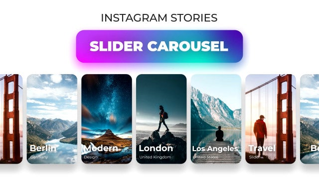 Instagram Stories Slider Carousel: After Effects Templates