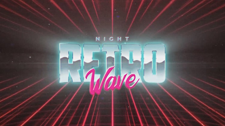 Retro Wave Intro #2: After Effects Templates