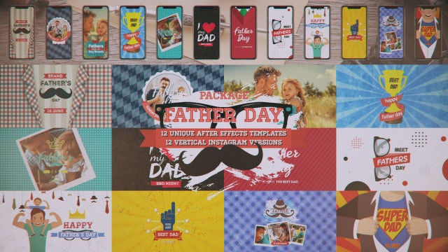 Father's Day Package: After Effects Templates