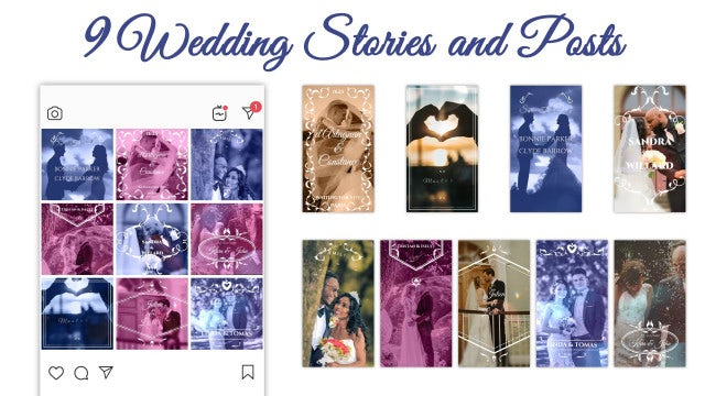 Wedding Stories And Posts: After Effects Templates