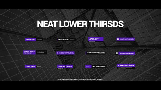 Neat Lower Thirds: After Effects Templates
