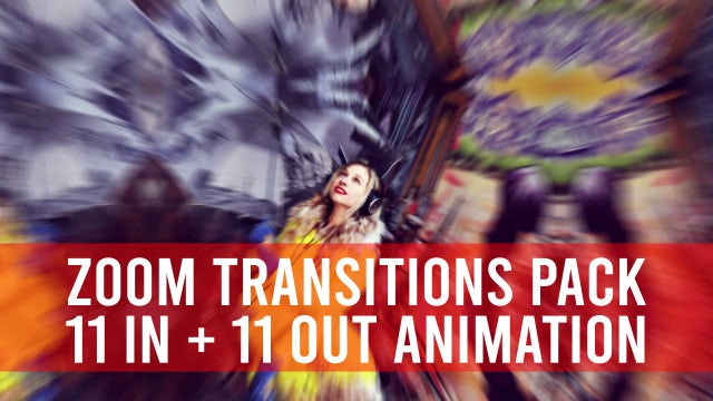 Zoom Transitions Pack: Premiere Pro Templates