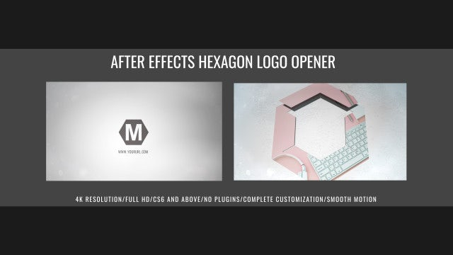 After Effects Hexagon Logo Opener: After Effects Templates