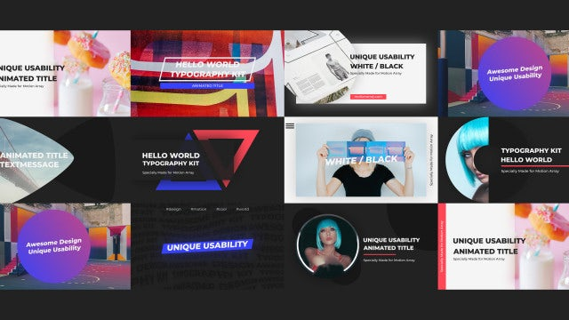 Creative Typo: After Effects Templates