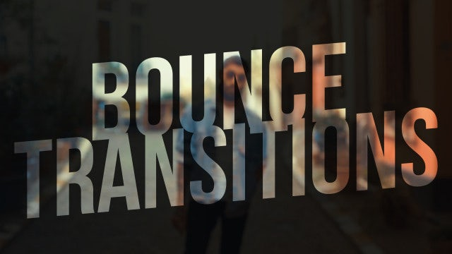 Bounce Transitions: Premiere Pro Presets