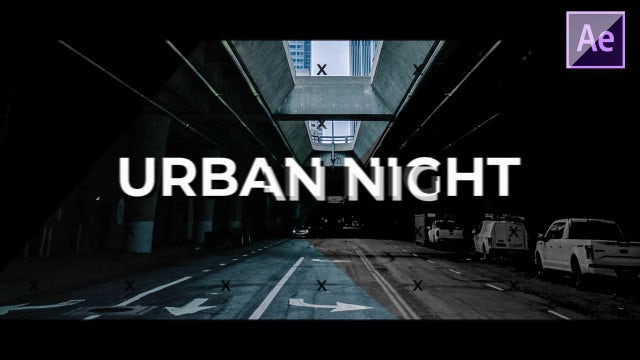 Urban Night Intro: After Effects Templates