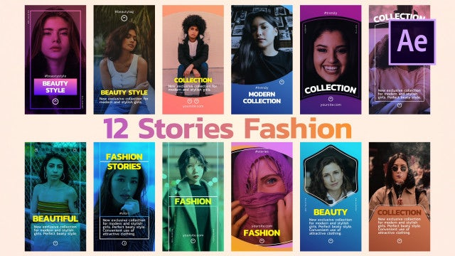 12 Stories Fashion: After Effects Templates