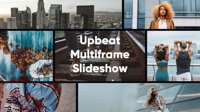 Upbeat Multiframe Intro Slideshow: Premiere Pro Templates