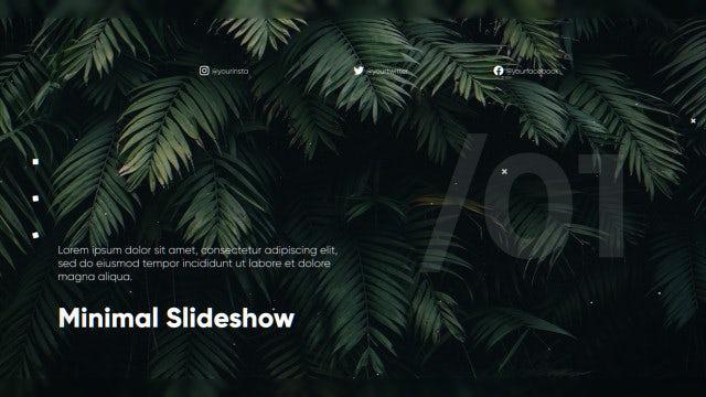 Inspiring Minimal Slideshow: Premiere Pro Templates
