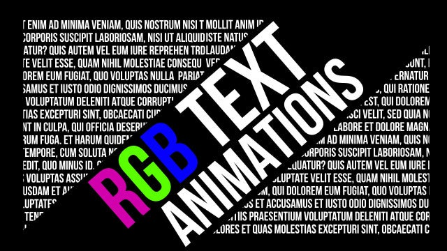 RGB Text Animations: After Effects Presets