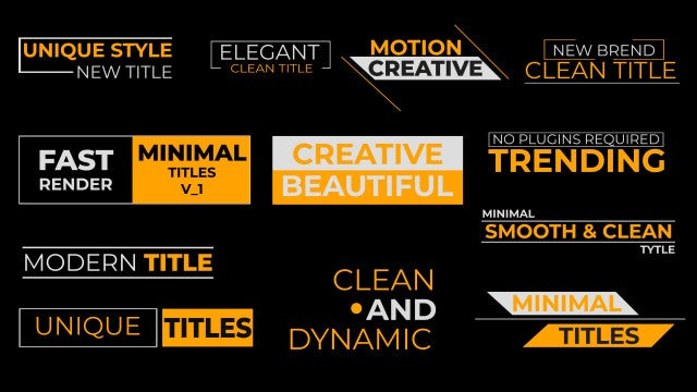 Clean Titles V1: After Effects Templates